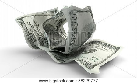 Scrunched Up Us Dollar Notes