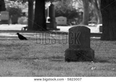 Black and White Gravestone
