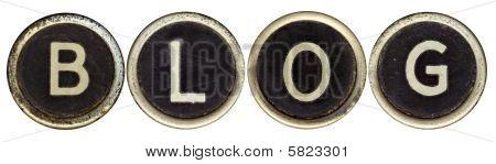 Blog In Old Typewriter Keys