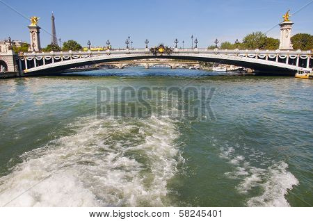 Pont Alexandre Iii In Paris City From Seine River