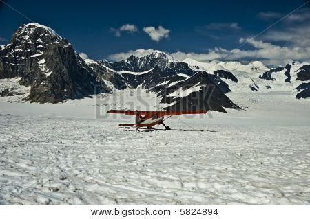 Ski Plane On Mountain