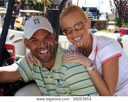 Amaury Nolasco and Katie Lohmann at the 7th Annual Playboy Golf Scramble Championship Finals. Lost Canyons Golf Club, Simi Valley, CA. 03-30-07