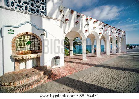 Architectural Feature. Balcon De Europa. Nerja, Spain.