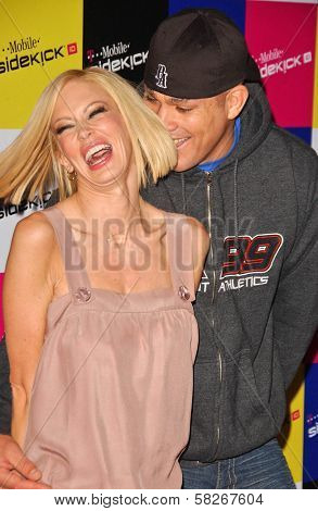 Jenna Jameson and Tito Ortiz at the launch of T-Mobile Sidekick ID, T-Mobile Sidekick Lot, Hollywood, CA. 04-13-07