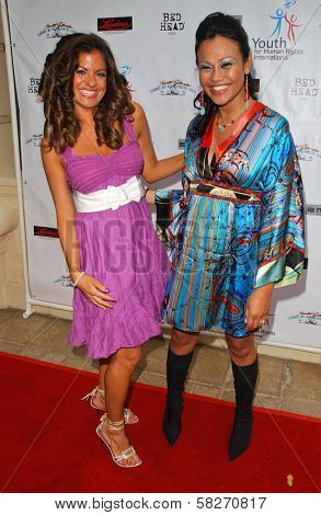 Bridgetta Tomarchio and Cassandra Hepburn at a Fashion and Music Extravaganza Promoting Human Rights for Youth. Church of Scientology Celebrity Centre Pavilion, Los Angeles, CA. 04-14-07
