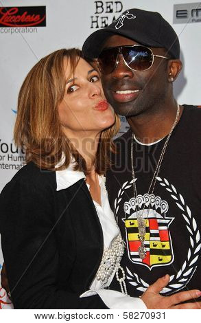 Maggie Wagner and Sam Sarpong at a Fashion and Music Extravaganza Promoting Human Rights for Youth. Church of Scientology Celebrity Centre Pavilion, Los Angeles, CA. 04-14-07