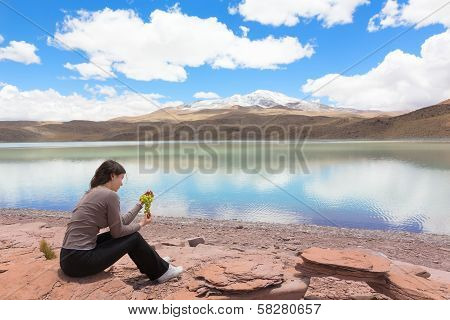Woman eating grape