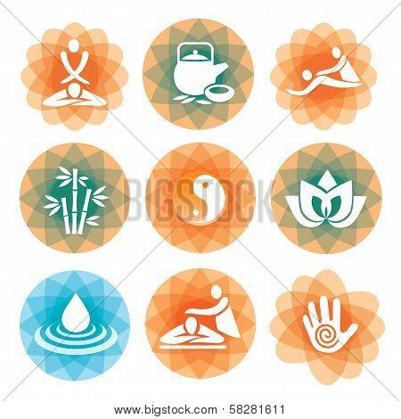 Massage spa icons