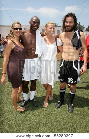 Jimmy Jean-Louis and Santiago Cabrera at the Soccer for Survivors Celebrity Showcase Match. Beverly Hills High School, Beverly Hills, CA. 07-22-07