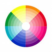color gradient of a Radial ring   rainbow poster