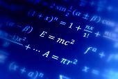 Einstein formula of relativity  constant pi area. poster