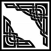 vector set of two celtic ornamental corners poster