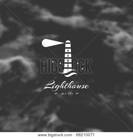 Lighthouse, Element For Design, Silhouette Sign.