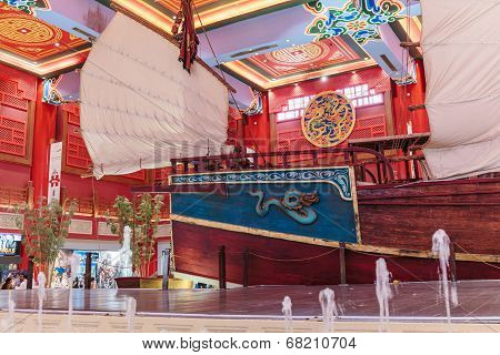 Interior Ibn Battuta Mall Store. Each Hall Is Decorated In The Style Of Different Countries.