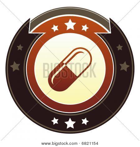 Pill, drug or pharmaceutical icon