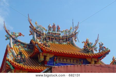 Colorful Asian Temple Roof