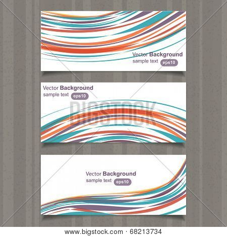 Header/Card design colorful, vector