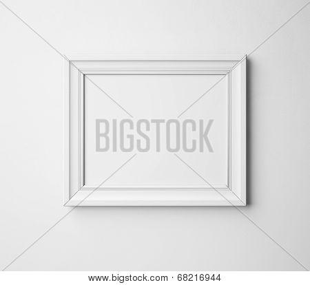 blank frame on a wall