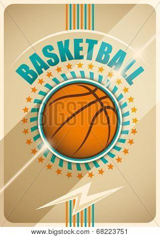 Basketball poster design. Vector illustration.