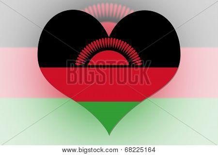 Malawi Flag Heart