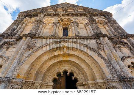 Facade Of Petit Palais Et Cornemp Romanesque Church, Gironde France