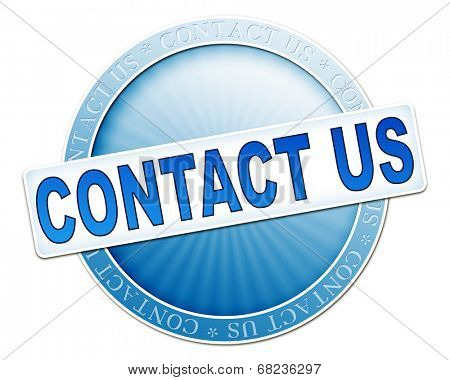 An image of a useful blue contact us button poster