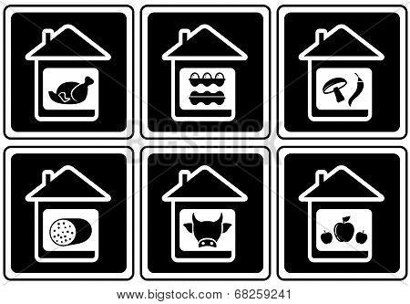 set food icons on home