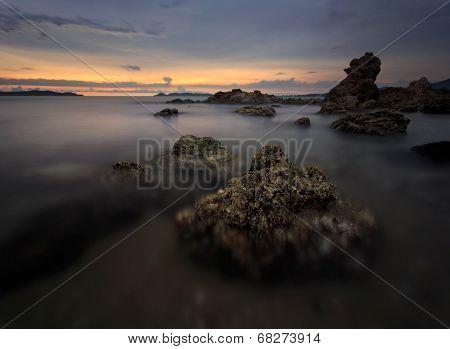 Beautiful Sunset At The Stone Beach