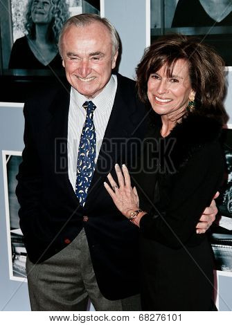 NEW YORK-JAN 12: William Bratton (L) and Nikki Bratton attend 'Beautiful - The Carole King Musical' Broadway Opening Night at Stephen Sondheim Theatre on January 12, 2014 in New York City.