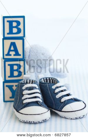 Zapatos de bebé azul