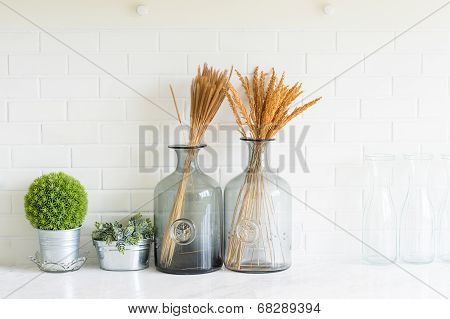 Vase On The Table In The Room