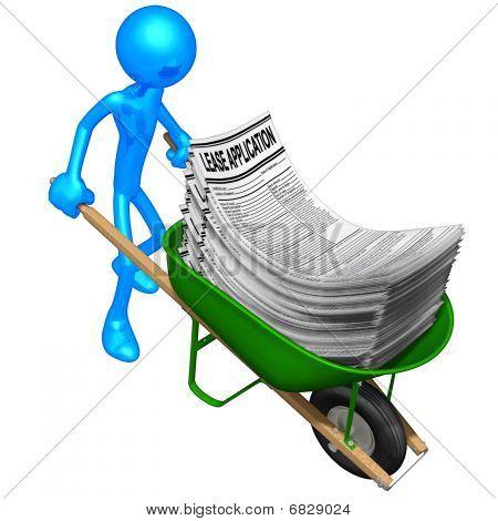 Wheelbarrow Full Of Lease Applications