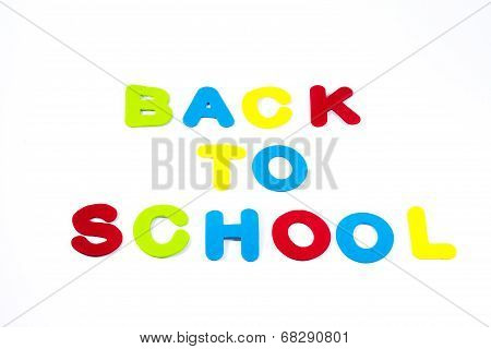 Back To School Isolated On White