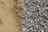 Sand and broken stone vertical background photo poster