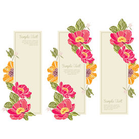 set wedding invitation card vert