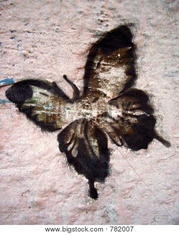 grafitti stencil butterfly