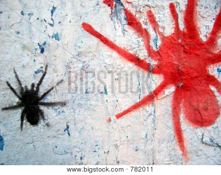 grafitti stencil spiders