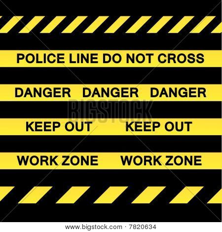 Yellow Caution Tape Strips