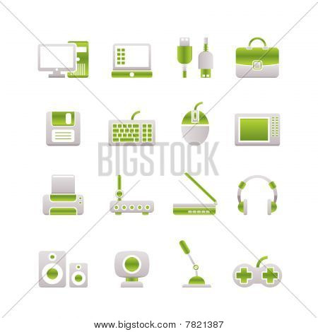 Computer equipment and periphery icons