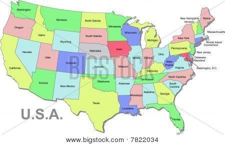 U.S.A map