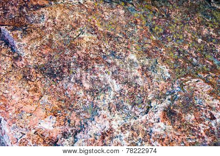 Granite Surface With Rich And Various Texture