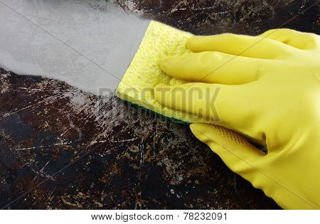 Wipe Clean With Yellow Sponge