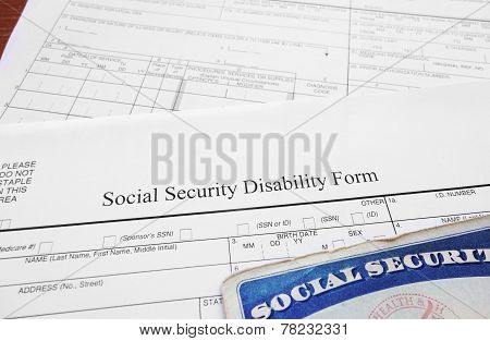 Social Security Disability Form Image  Photo  Bigstock