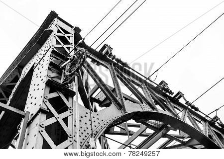 Steel Construction Of A Railway Bridge