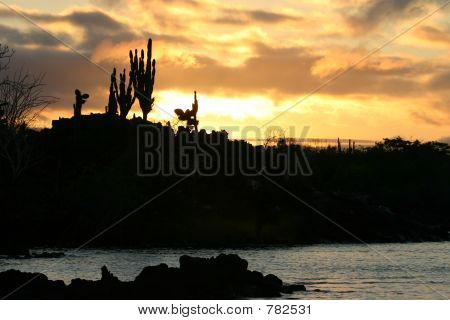 Sunset in Galapagos Islands