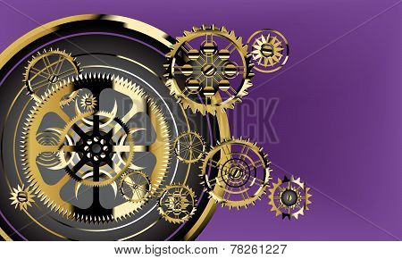 Broken Watch Cogs Background