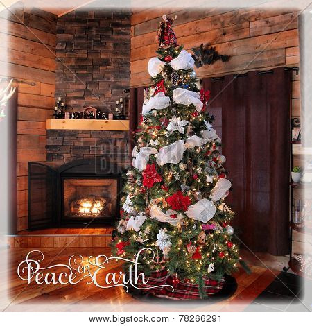 Beautiful Instagram Of Cottage Christmas Tree And Fireplace