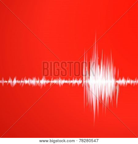 Red graph of sound