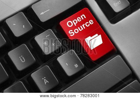 Keyboard Red Button Open Source
