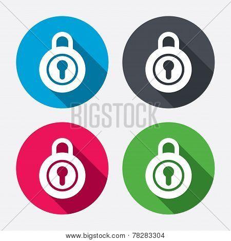 Lock sign icon. Locker symbol.
